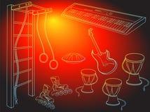 Röd färg för pojkemusiksport Royaltyfri Fotografi