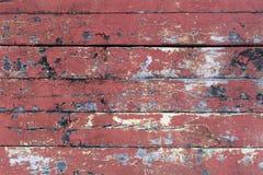 Röd färgad trätextur arkivfoton