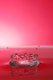 röd färgstänk Fotografering för Bildbyråer