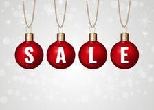 Röd försäljning för jul Royaltyfria Bilder