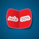 Röd försäljningskupong Fotografering för Bildbyråer