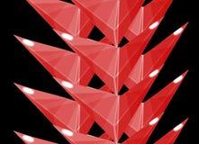 Röd försedd med en hulling vertikal gräns Royaltyfri Bild