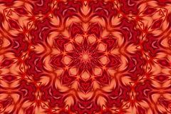 Röd fantasikalejdoskop Arkivbilder