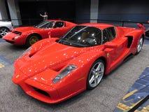 Röd Ferrari Supercar Arkivbilder