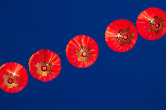 Röd-lyktor arkivfoton