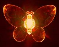 Röd fjäril Arkivbild