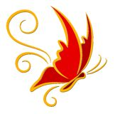 Röd fjäril för logo Arkivfoton