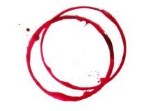 röd fläck arkivfoto