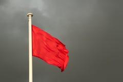 Röd flagga. Royaltyfri Bild