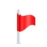 Röd flagga Stock Illustrationer