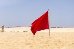Röd flagga Royaltyfria Foton