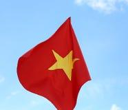 röd flagga av VIETNAM med den stora gula stjärnan Royaltyfria Foton