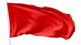 Röd flagga på flaggstång Royaltyfri Bild