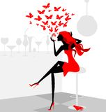 röd flicka Arkivfoto