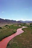 röd flod Fotografering för Bildbyråer
