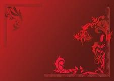 Röd flora för bakgrund Arkivbilder
