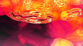 Röd fluid abstraktion Arkivfoto