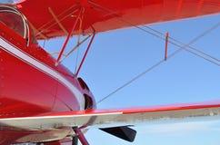 Röd flygplannivå Arkivbilder