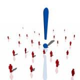 Röd folkmassa för humanoid som 3d har en idé Arkivfoto