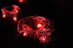 Röd fontain Arkivbild
