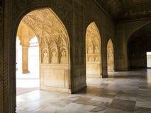 Röd Fort i Agra, Indien, världsarv, Royaltyfria Bilder