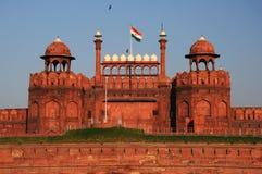 Röd Fort i gammala Delhi, Indien Royaltyfri Foto