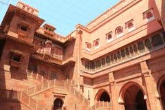 Röd fortbikaner rajasthan Indien Fotografering för Bildbyråer