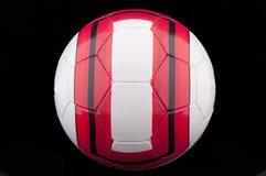 röd fotbollwhite för boll royaltyfri fotografi