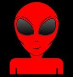 Röd främling arkivfoton
