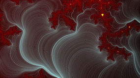 Röd fractalbakgrund och kosmisk sikt Arkivbilder