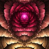 Röd fractalhjärta vektor illustrationer