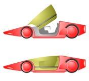Röd framtida bil Royaltyfri Fotografi