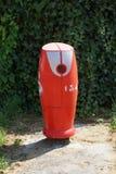 Röd fransk vattenpost Fotografering för Bildbyråer