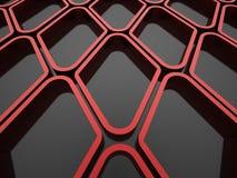 Röd futuristisk bakgrund Arkivfoton