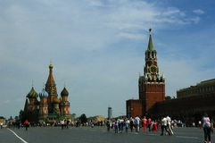 Röd fyrkant av Moskva Royaltyfria Bilder