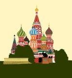 röd fyrkant för domkyrka royaltyfri illustrationer