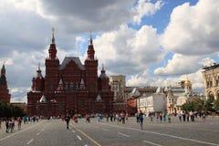 röd fyrkant för historiemoscow museum Arkivfoton