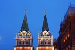 röd fyrkant för historiskt moscow museum Royaltyfria Foton
