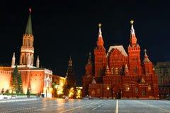 röd fyrkant för natt Royaltyfri Bild