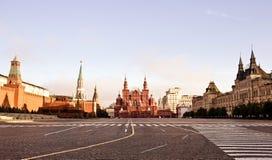 Röd fyrkant i Moscow arkivfoton