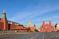 Röd fyrkant i Moskva arkivbilder