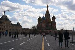 Röd fyrkant, Moskva, rysk federal stad, rysk federation, Ryssland Royaltyfria Bilder