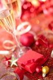 Röd gåva Fotografering för Bildbyråer