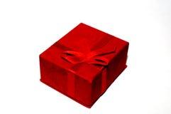 Röd gåvaask Royaltyfria Bilder