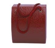 Röd gåvaask för armbandsur Arkivbild