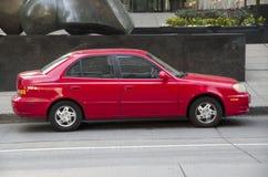 Röd gammal bil Royaltyfria Foton
