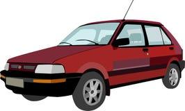 Röd gammal bil Arkivfoto