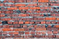 Röd gammal sliten bakgrund för textur för tegelstenvägg royaltyfri bild