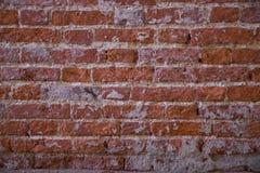 Röd gammal tegelstenvägg textur Arkivfoto