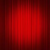 Röd gardin Arkivfoto